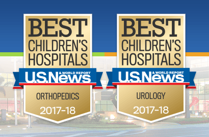 Best Children's Hospital Pediatric Orthopedics and Pediatric Urology 2017-2018