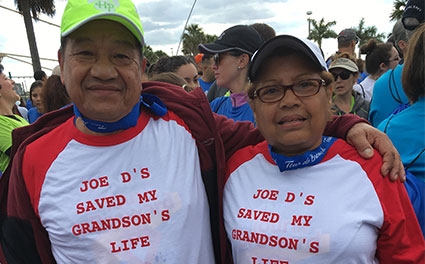 Bilabao & Naida Revelo proudly wore their shirts during the 2016 Tour De Broward