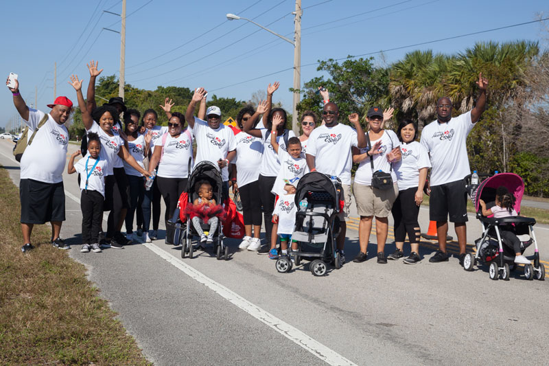 Many groups walked together for this great cause