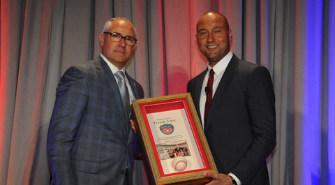 Derek Jeter receives American Icon Award