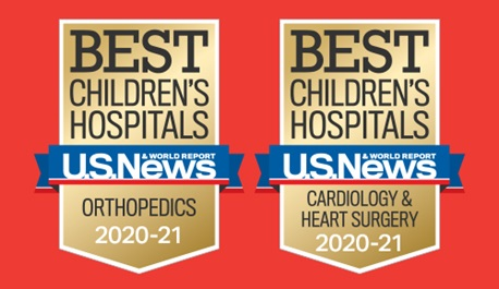 US News Best Children's Hospitals Badges