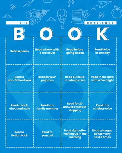 book bingo reading printout