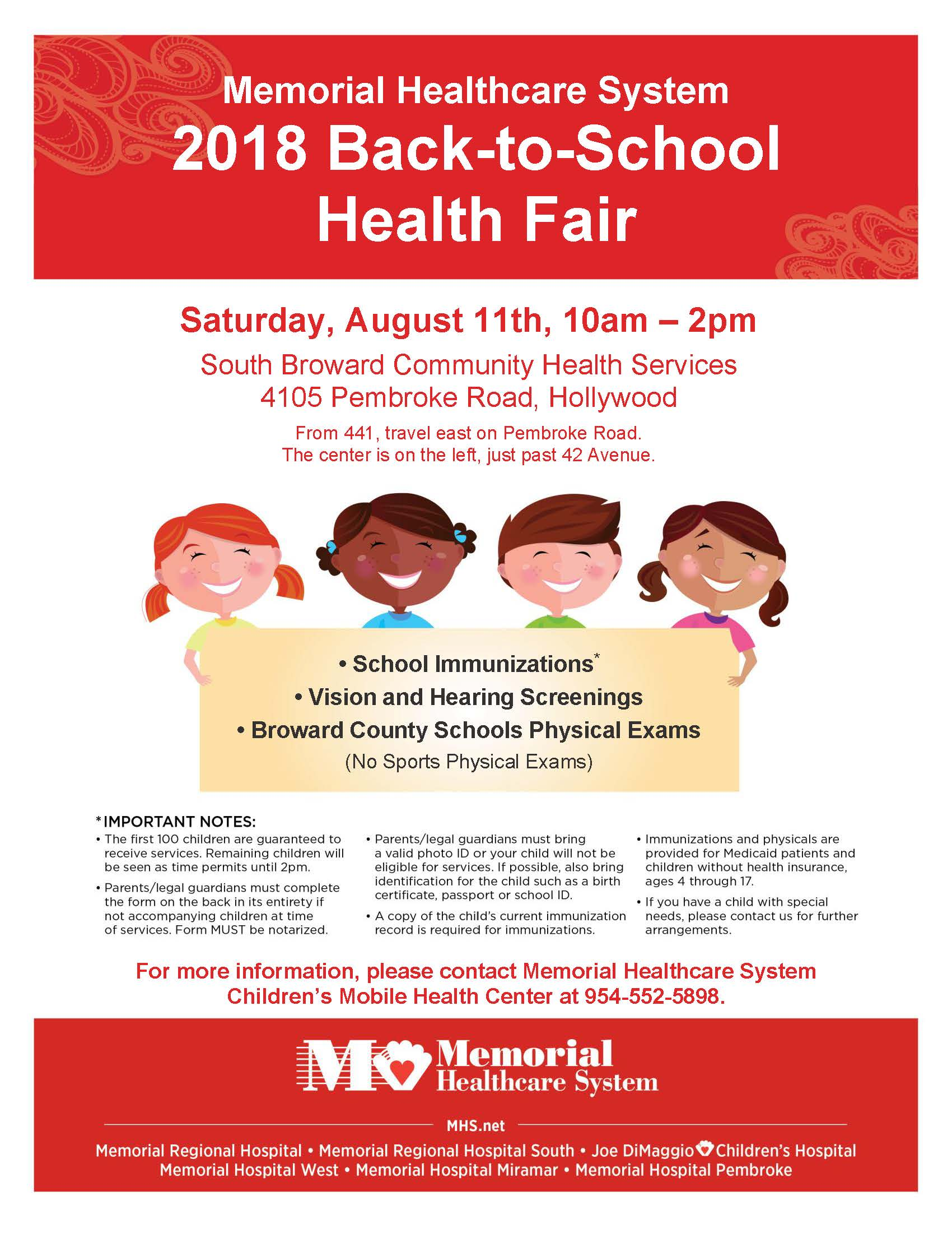 2018 Back-to-School Health Fair