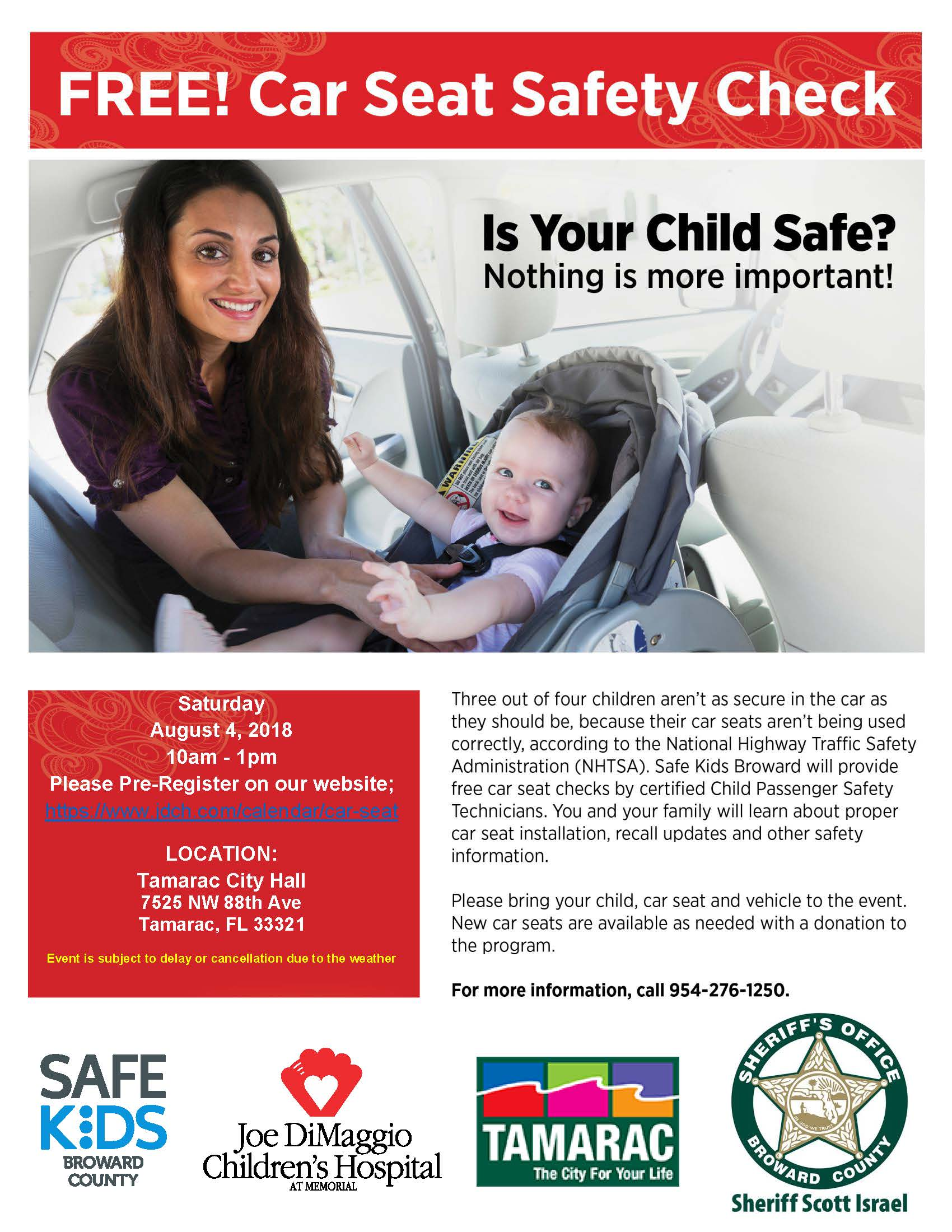 Car Seat Inspection, August 2018