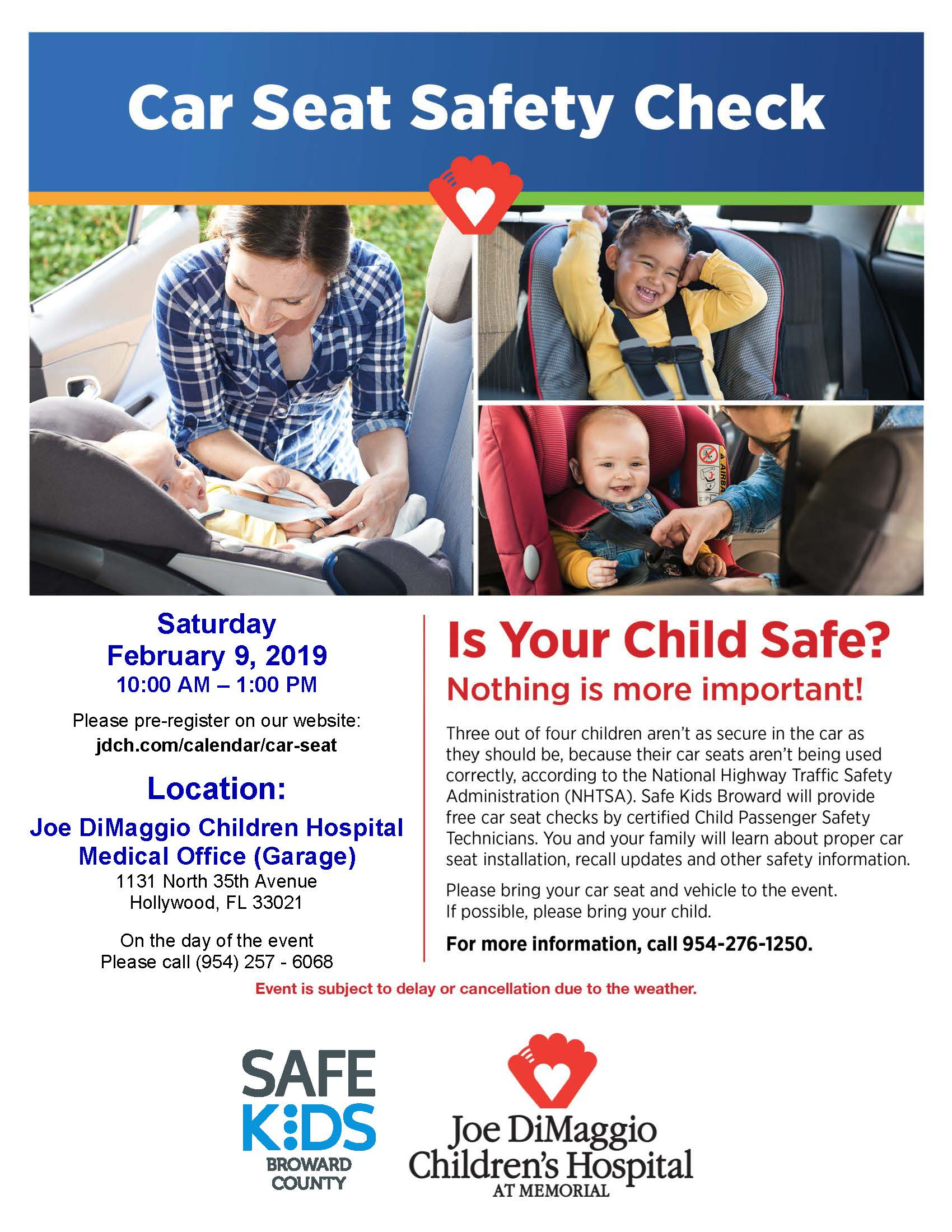 Car Seat Safety Flyer February 2019