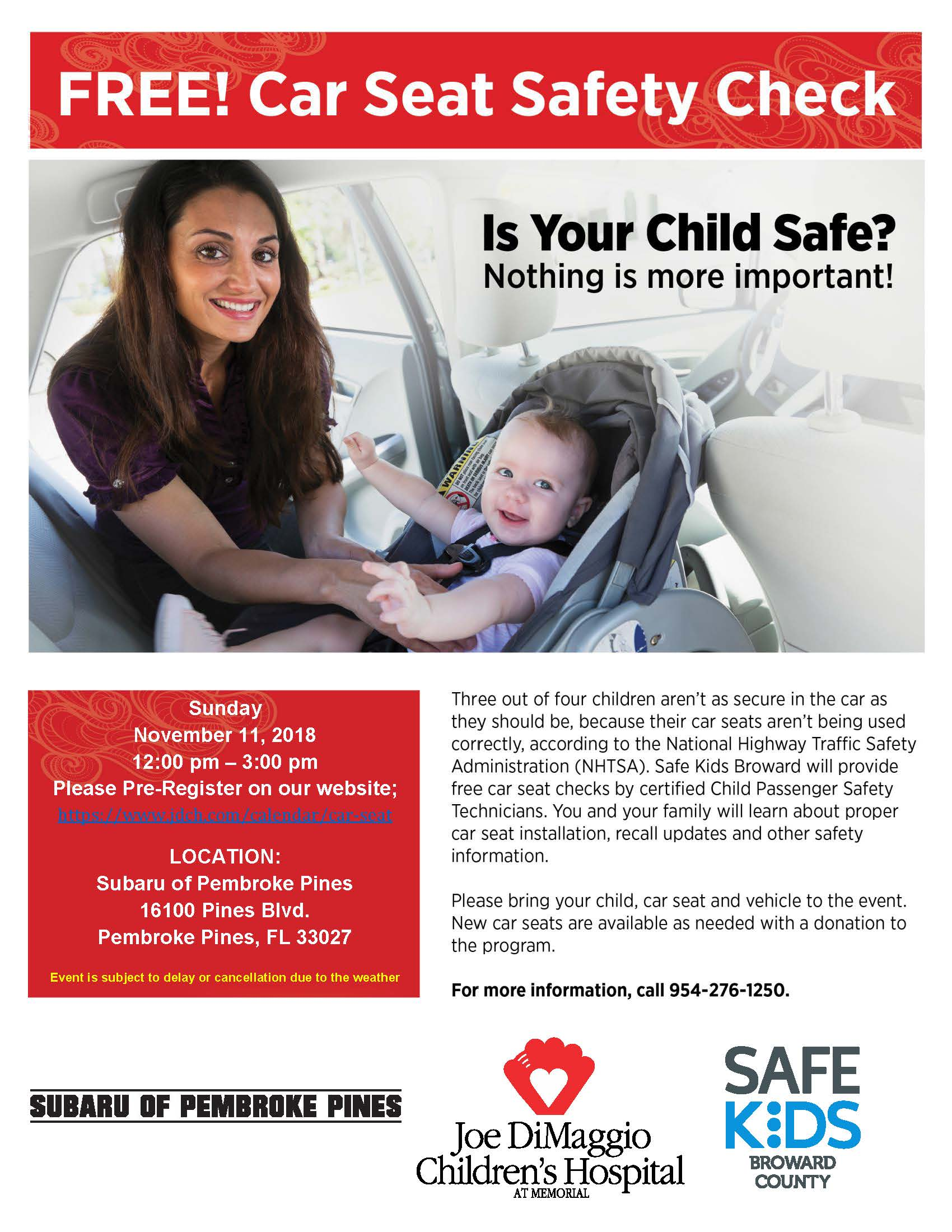 November 2018 JDCH Car Seat Safety