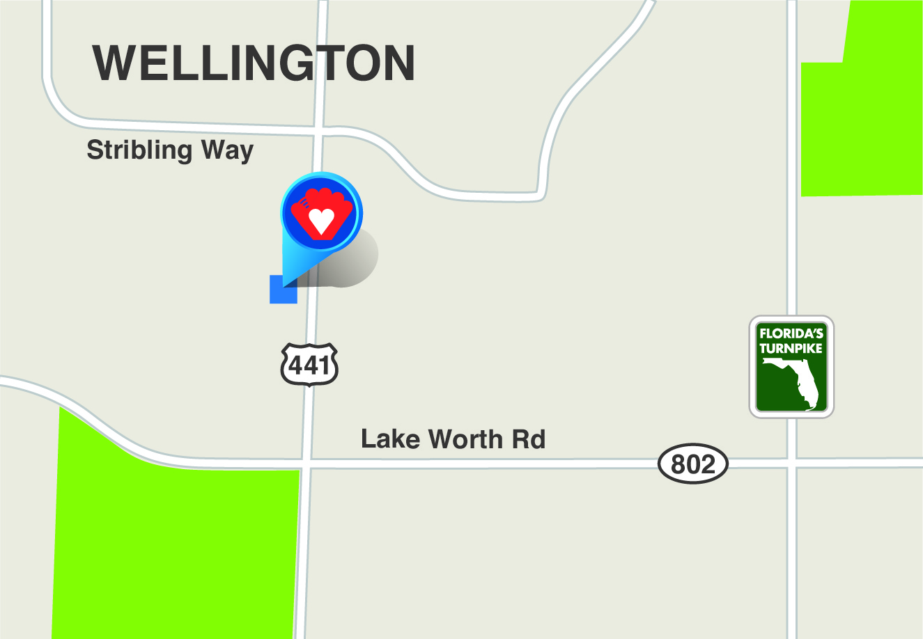 Map to 3377 SR 7, Wellington 33449