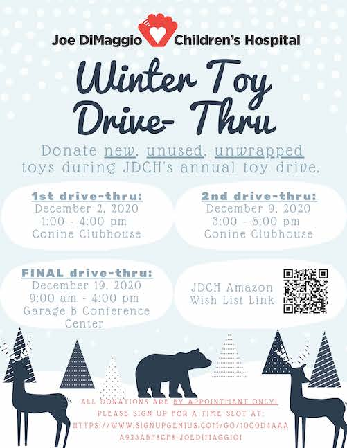 Child Life Winter Toy Drive-Thru